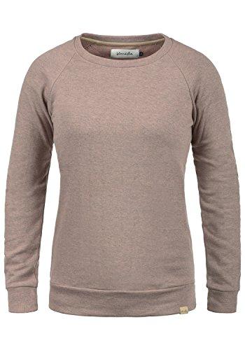 Blend She Kim Damen Sweatshirt Pullover Sweater Mit Rundhalsausschnitt, Größe:S, Farbe:Misty Rose Melange (20204)