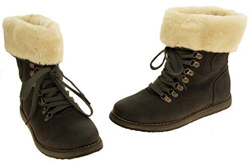 Footwear Studio Femmes Keddo Faux Cuir Faux Fourrure Doublé Cheville Bottes