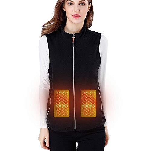 Foonee, gilet elettrico riscaldato, lavabile, leggero, con temperatura regolabile, con inserto USB per donne e uomini, ideale per sciare, escursionismo, pesca, ciclismo