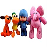 Complete Set of 4 Plush: Pocoyo, Pato, Elly, Loula by Pin Yuan