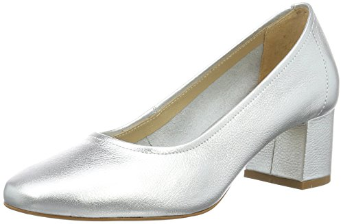 Buffalo London Damen ZS 6632-16 Vegetal Metalic Soft Pumps, Silber (Silver), 37 EU