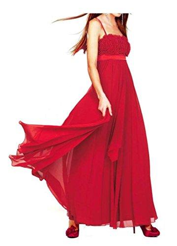 APART Abendkleid Ballkleid m. Rüschen rot Gr. 44
