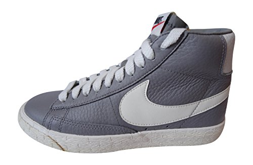 Nike Damen Blazer Mid Leder VNTG Hi Top Turnschuhe 525366Sneakers Schuhe, Mehrfarbig - Light Charcoal Sail 001 - Größe: Verschiedene (Schuhe Nike Blazer Frauen)