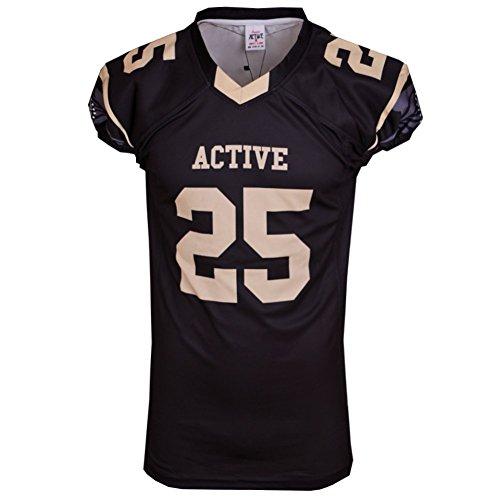 ACTIVE Sportswear quick dry fit jersey rugby jersey uniforme di colore nero casual asportato abbigliamento uomo