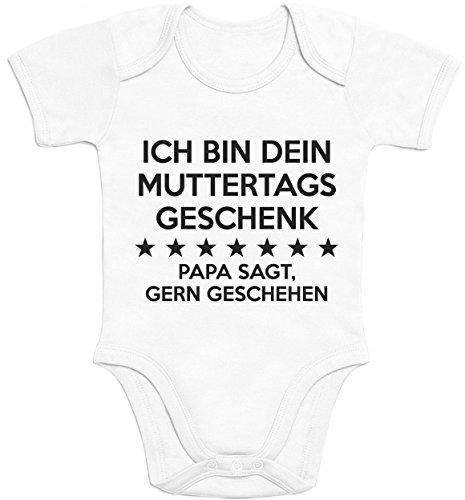Ich Bin Dein Muttertagsgeschenk Papa Sagt Gern Geschehen Baby Body Kurzarm-Body 3 - 6 months Weiß