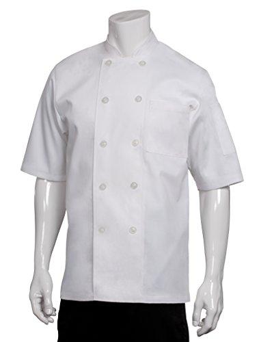 Chef Works Volnay (Côte Short Sleeve Basic Chef Coat, weiß, XXL, weiß, 1 (Chef Mäntel Von Chef Works)