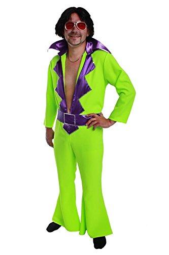 Schlagerkostüm Outfit Herren Overall (80er Jahre Neon Kostüm Ideen)