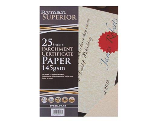 ryman-certificate-paper-a4-vellum-145gsm-25-sheets