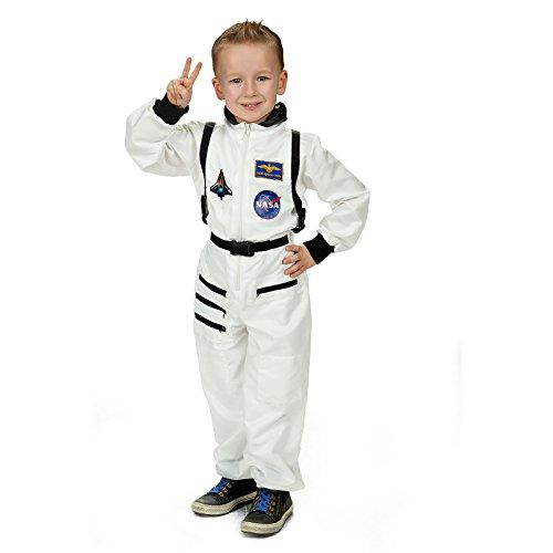 Raumfahrer Kind Kostüm (Astronaut Raumfahrer Overall Kinder Kostüm weiß für Karneval und Fasching -)