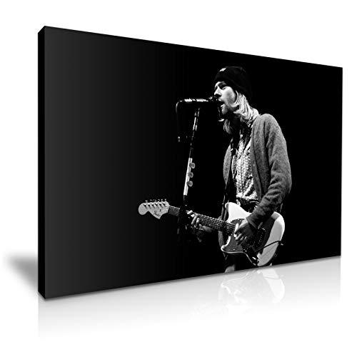 YES ART Kunstdruck auf Leinwand, Motiv Kurt Cobain Gitarre, 76 x 50 cm (Cobain-gitarre Kurt)