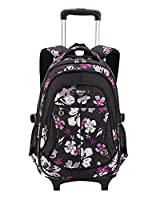 Fanci Kids Nylon Trolley Bag School Backpack Girl's Student Removable Luggage Bookbag Travel Bags Suitcase With Thick Spongia Strap Silence Wheels