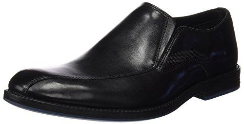 Clarks Herren Prangley Step Slipper, Schwarz (Black Leather), 45 EU