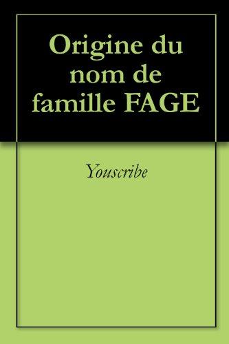 origine-du-nom-de-famille-fage-oeuvres-courtes