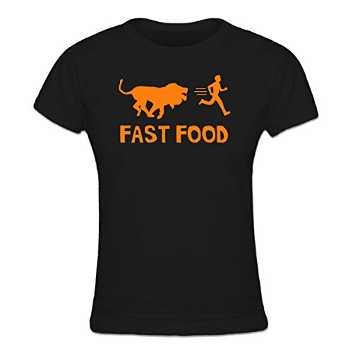 camiseta-de-mujer-fast-food-lion-human-by-shirtcity