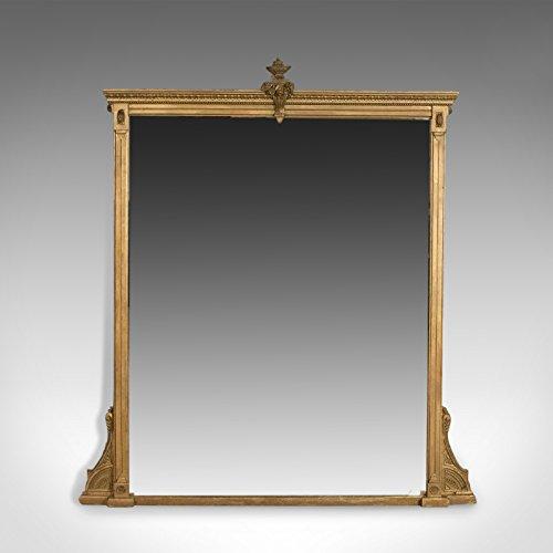 Wand-platten Viktorianischen (Antik OverMantel Spiegel, English Victorian, klassischen Revival, Wand circa 1880)