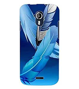 ColourCraft Lovely Feathers Design Back Case Cover for MICROMAX CANVAS MAGNUS A117