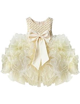 YiZYiF Baby Mädchen Kleid mit Schleife Bowknot Taufkleid Blumenmädchenkleider Hochzeit festlich kleid Party Kleinkind...