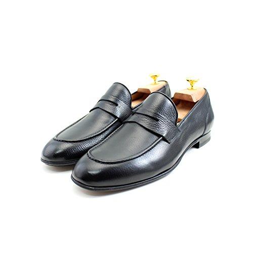 Rea Clásicos Oxford Mano Giorgio Elegante Mocasines Clásico Zapatos Italianos Masculinos Negro Zapatos Cuero Hombre RxwgRr4q