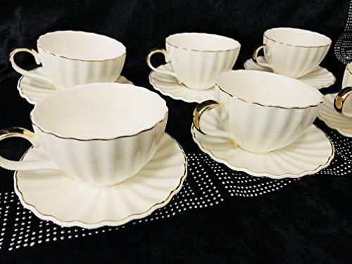 Bavary 12 tlg Medusa Kaffeeservice mit Goldschliff Edel und Elegant