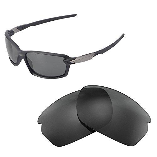 Walleva Ersatzgläser für Oakley Carbon Shift Sonnenbrille - Verschiedene Optionen erhältlich, Unisex-Erwachsene, Black - ISARC Polarized, Einheitsgröße