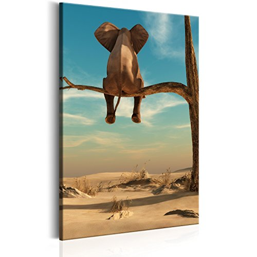 Murando   Cuadro Lienzo sintético 60x90 cm   Elefante