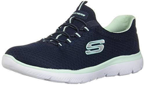 Skechers Damen 12980 Sneaker, Blau (Navy/Aqua), 39 EU