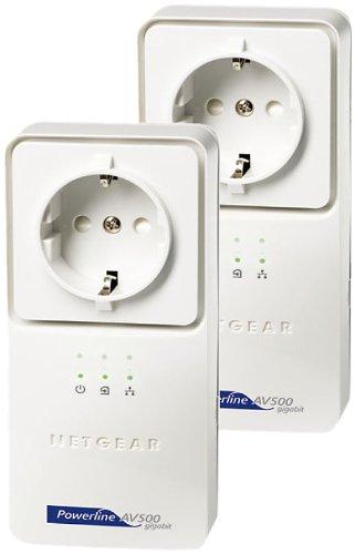 NETGEAR Powerline AV+ 500 Netzwerkadapter-Kit 2x XAV5501 (GR, Netzwerk aus der Steckdose) - Netgear-gigabit-powerline