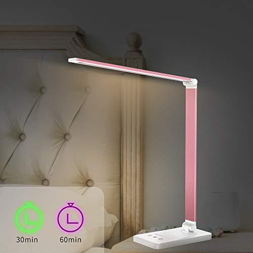nero lampada da tavolo alimentata a batteria // USB con morsetto Luce decorativa Lampade a clip 2 lampade da braccio a 8 LED lampada a collo di cigno per libro da letto Luce notturna camera da let