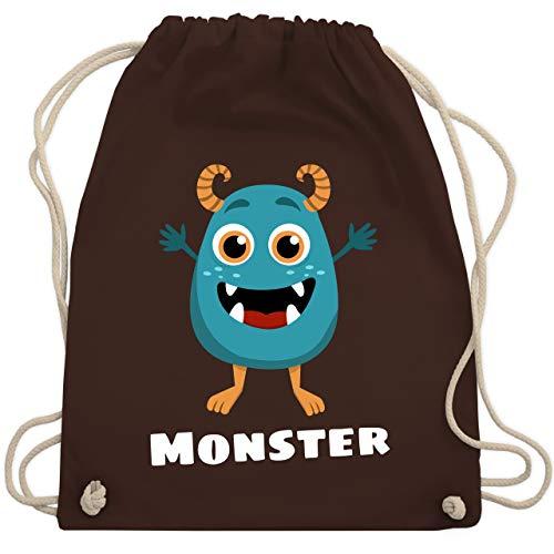 Partner-Look Familie Kind - Monster Partner-Look Kind - Unisize - Braun - WM110 - Turnbeutel & Gym Bag