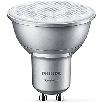 philips 3 in 1 led lampe sceneswitch ersetzt 50w eek a gu10 reflektor dimmen ohne dimmer. Black Bedroom Furniture Sets. Home Design Ideas