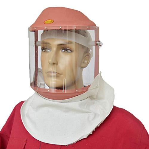 LPFMM Rosa Transparente Maske - Stirnband Plexiglas Isolierschal Maske, Staub- Und Stoßfeste Spritzschweißschutzmaske Schweißmaske