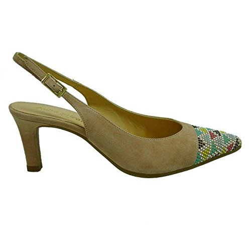 Zapatos Mujer Salones Peep_Toes Pedro Miralles 19764 Nude 39