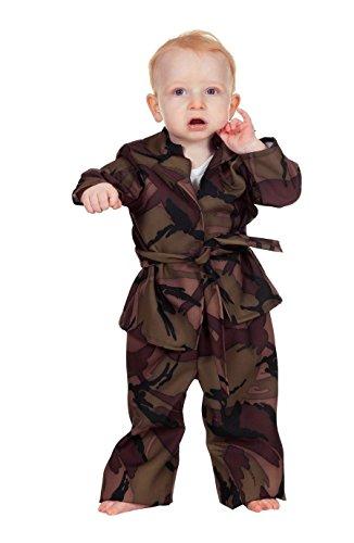 W3544-92 Soldat camouflage-grün Baby-Kleinkinderkostüm ()