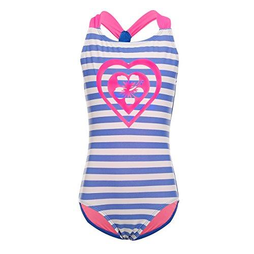 DAYU Mädchen Badeanzug Einteiler Badeanzug Bademode Kinder Beachwear -Blau-6-6X