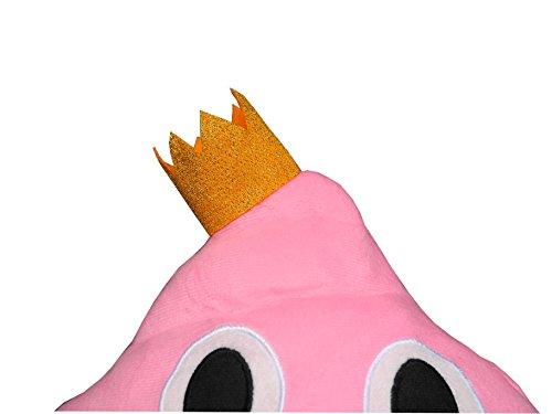 Haufi – Emoji Smiley Poop Kissen – Kopfkissen in Kackhaufen-Form mit Gratis Sammelkarte (Haufi princess) - 3