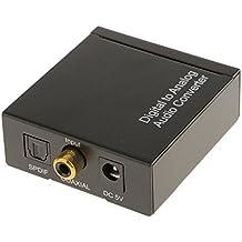 Digital Coaxial óptico Toslink A Analógico L / R RCA Adaptadores Convertidor de Audio