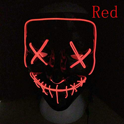 Halloween-Maske EL Light Up Party Masken Purge Wahljahr Lustige Masken Festival Cosplay Kostüm Vorräte Glühen LED,B