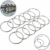 12Pcs Stainless Steel Circle Shower Curt...
