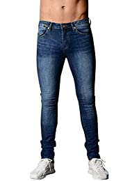 907937ee05 Targogo Jeans Pants R Hombre Hombre Hombre Jeans Slim Fit Pants Denim  Stretch Straight Skinny Jeans
