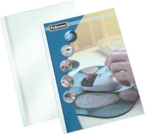 Fellowes Coverlight - 100 cubiertas para encuadernación térmica, 1.5 mm