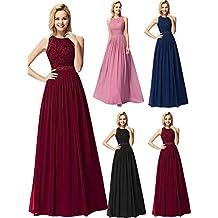 e33d31e16 Ever-Pretty Vestido de Fiesta Noche Largo para Mujer Vestido de Fiesta Boda  Ceremonia 07391