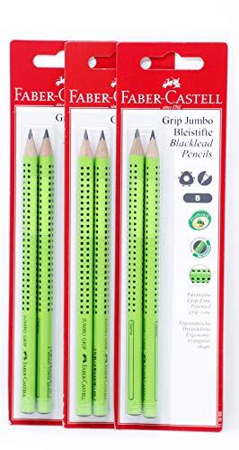 Faber-Castell Bleistift Jumbo B Grip 2er 4er 6er 8er 10er (3 x 2 Bleistifte)