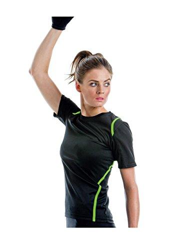 GameGear Gamegear ® Cooltex ® T-Shirt Kurzarm Frauen Schwarz / Fluorescent Rosa