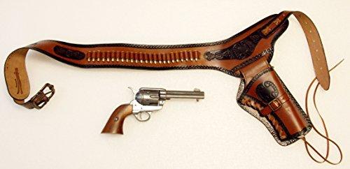 revolvergurtel-coltgurtel-pistolengurtel-mit-24-dekopatronen-aus-messing-und-colt-peacemaker