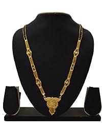 RADHEKRISHNA Alloy Mangalsutra With Golden Earrings (Golden)