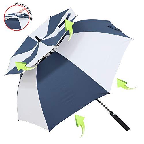 ZOMAKE Grand Parapluie Automatique de Golf - Solide Homme Femme Taille 157,5 cm Anti UV Anti...