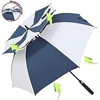 ZOMAKE 157cm Automatische Öffnen Golf Schirme Extra große Übergroß Doppelt Überdachung Belüftet Winddicht wasserdichte Stock Regenschirme