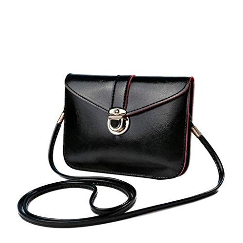 Transer Artificial Leather Handbags & Single Shoulder Bags Women Zipper Bag Girls Hand Bag, Borsa a spalla donna Multicolore Gold 17cm(L)*12(H)*4cm(W), Yellow (Multicolore) - CQQ60901345 Black
