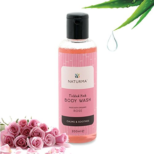 Naturma Rose Body Wash, Natural and Organic, Calms Soothes Lush, 200ml