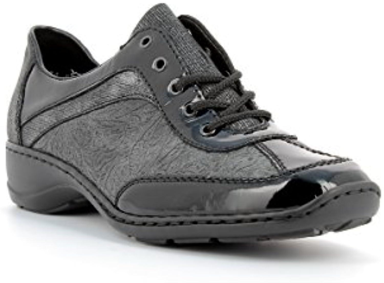 Rieker Chaussures/Chaussures - Baskets en Cuir Femme 58312-00 - Chaussures/Chaussures Rieker à Lacets - 36 au 41 a745b5